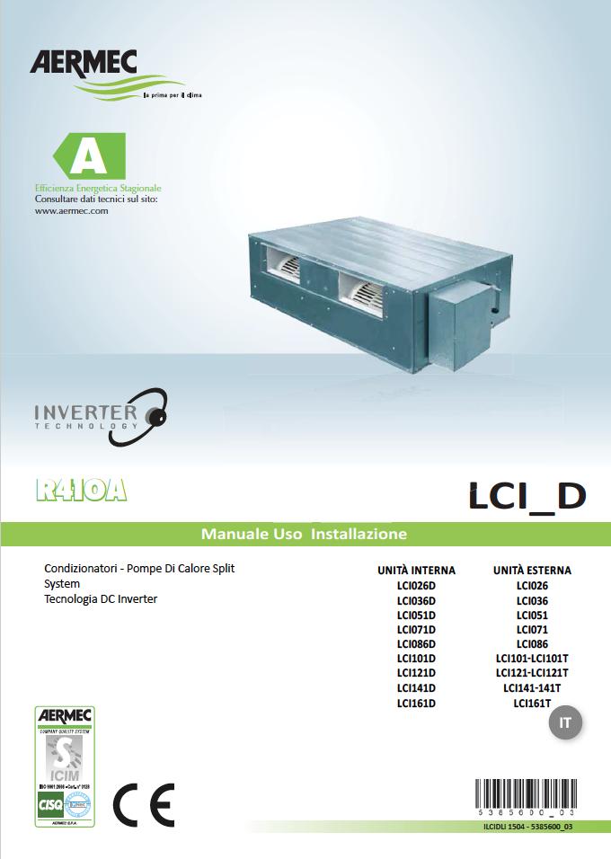 Condizionatori canalizzati ariottino kit condizionatori - Climatizzatori canalizzati ...